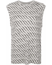 Zoe Karssen Striped Print Sleeveless T Shirt