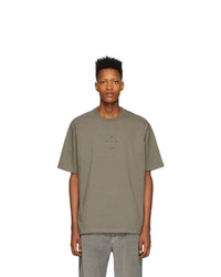 Song For The Mute Taupe Oversized Logo T Shirt