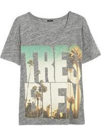 J.Crew Trs Bien Linen Jersey T Shirt