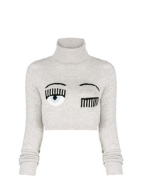 Chiara Ferragni Eye Logo Cropped Jumper
