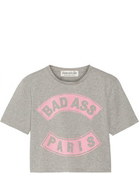 Etre cecile sold out cropped printed cotton jersey t shirt medium 656328