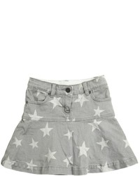 Stella McCartney Stars Printed Stretch Cotton Denim Skirt