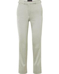 Etro Satin Jacquard Slim Leg Pants