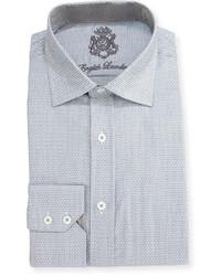 English Laundry Cotton Printed Dress Shirt Gray