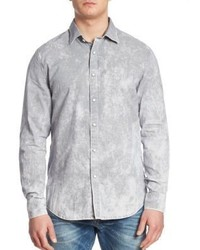 G Star G Star Raw Landoh Oxford Printed Slim Fit Shirt