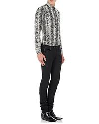 b76b9756047 Saint Laurent Python Print Silk Shirt Black White No Color, $990 ...