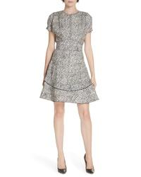 Derek Lam 10 Crosby Floral Print Fit Flare Dress