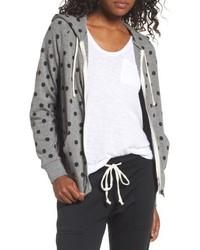 Adrian print zip hoodie medium 4950969