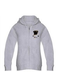 Artsmith Inc Zip Hoodie Pug I Love My Pug Dog