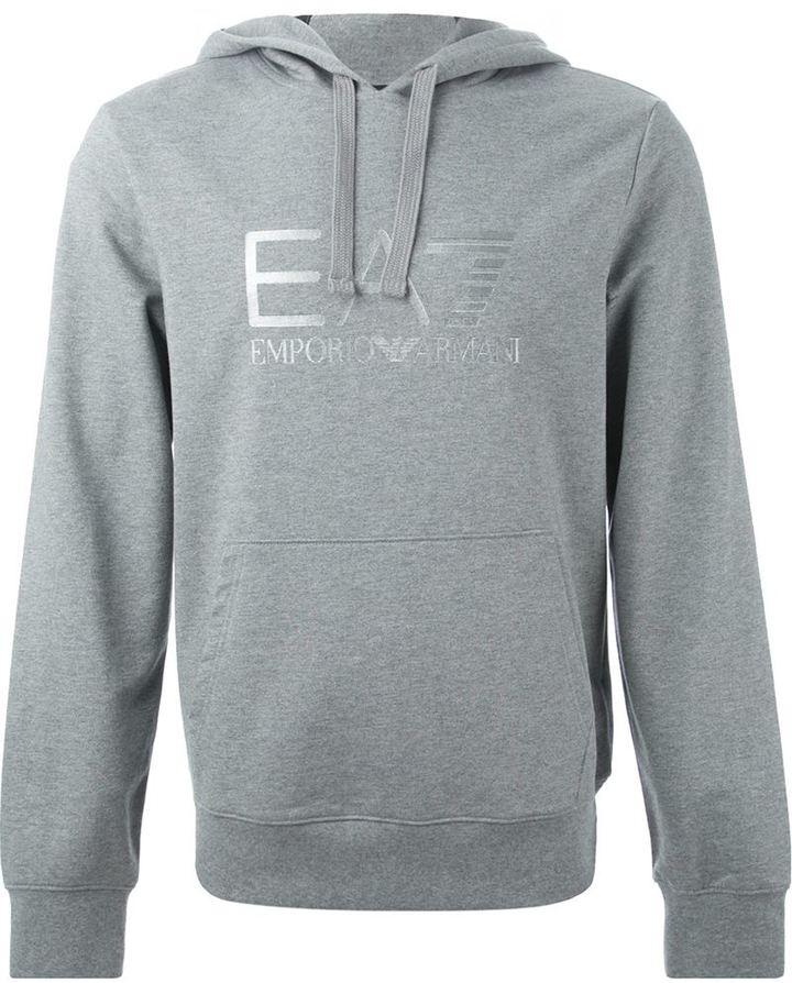 f7e45cf0ff7 ... Emporio Armani Ea7 Embossed Logo Hoodie