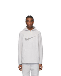 Nike Grey And Pink Marled Hoodie