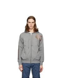 Etro Grey Jersey Paisley Hoodie