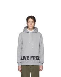 Comme des Garcons Homme Deux Grey Live Free Hoodie