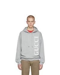 Gucci Grey Logo Hoodie