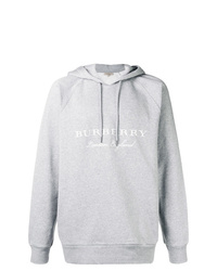 Burberry Hooded Embroidered Sweatshirt