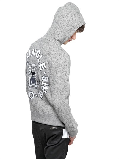 c2b18adc7 Kenzo Embroidered Cotton Hooded Sweatshirt, $525 | LUISAVIAROMA ...