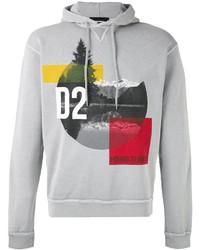 Mountain print hooded sweatshirt medium 3762291