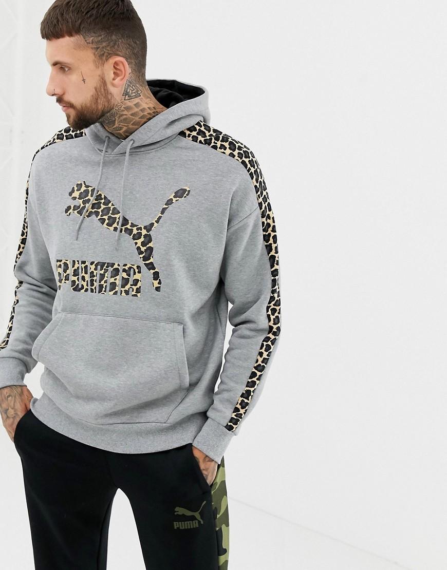 grey and white puma hoodie