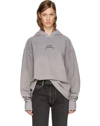 Reversible grey oversized logo hoodie medium 3723572