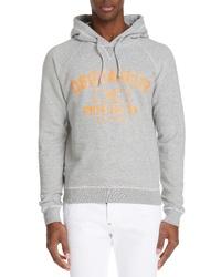DSQUARED2 Varsity Logo Hooded Sweatshirt