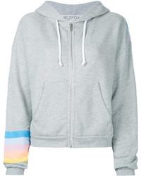 Wildfox printed zipper hoodie medium 5053451