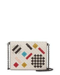 Bottega Veneta Art Leather Intrecciato Crossbody Flap Bag