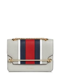 STRATHBERRY Mini Eastwest Stripe Leather Crossbody Bag