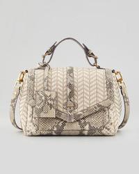 797 medium raffia snake print satchel bag natural medium 7175