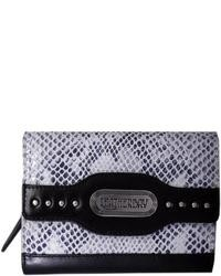 Grey leather snake print clutch medium 7172