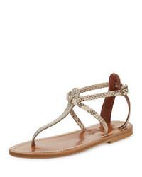 K jacques buffon snake print thong sandal medium 43503