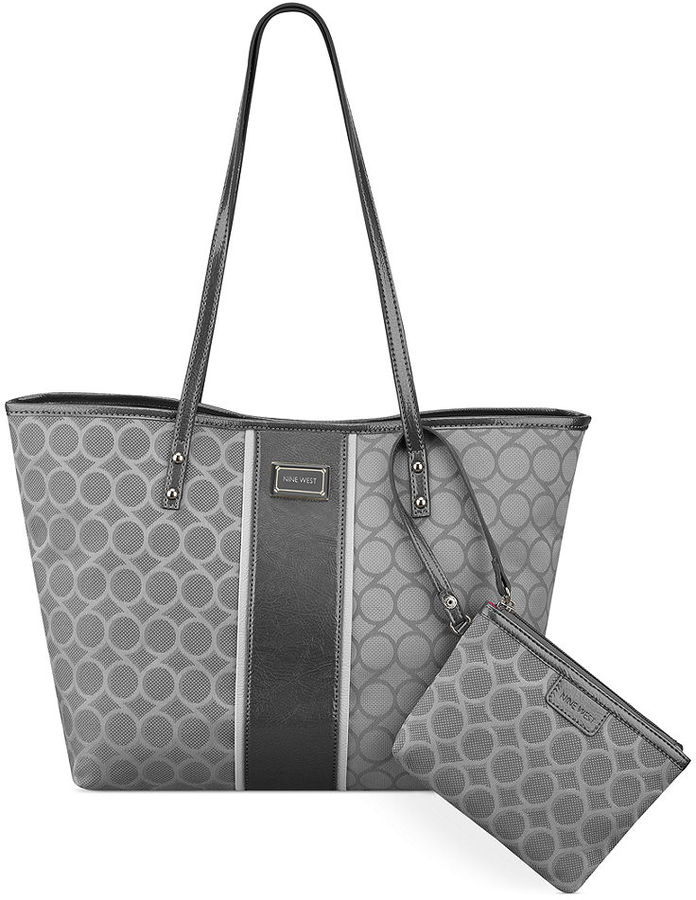 69 Nine West Handbag 9 Jacquard Medium Tote