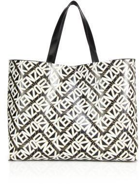 ebb4b1ac1a Kenzo Logo Print Faux Leather Shopper, $240 | Saks Fifth Avenue ...