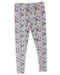 Capelli New York Little Girls Fun Stickers Printed Leggings