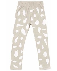 Omamimini Omamimini Leggings W Iceberg Print Light Grey