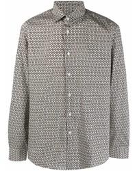 Salvatore Ferragamo Gancini Cotton Poplin Shirt
