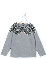 Grey Print Long Sleeve T-Shirt