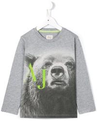 Armani Junior Bear Print T Shirt