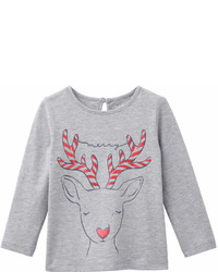 Joe Fresh Baby Girls Print Long Sleeve Tee