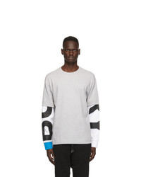 Burberry Grey Fernford Layered Long Sleeve T Shirt