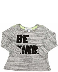 Joah Love Joah Love Be Kind Marled Cotton Blend Long Sleeve T Shirt