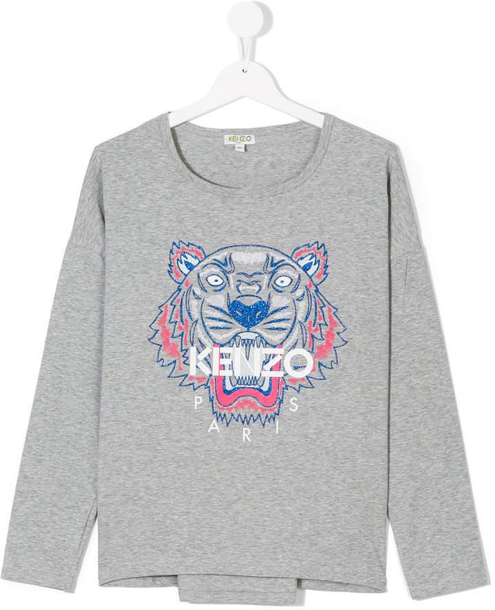 Kenzo Kids Teen Logo Printed T Shirt