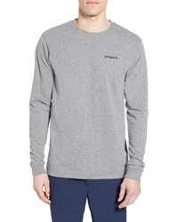 Patagonia Line Logo Long Sleeve Responsibili Tee T Shirt