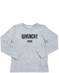 Givenchy Logo Cotton Jersey Long Sleeve T Shirt