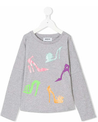 Moschino Kids Shoe Print Top
