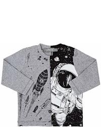 Officina51 Officina51 Space Motif Cotton Blend T Shirt