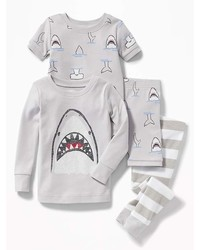 Old Navy Shark Graphic 4 Piece Sleep Set For Toddler Baby