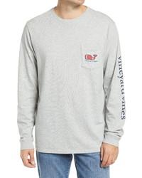 Vineyard Vines Textured Football Long Sleeve Pocket T Shirt