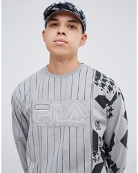 Fila X Liam Hodges Long Sleeve Striped T Shirt In Grey