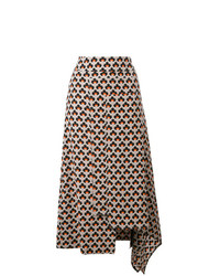 Marni Portrait Print Asymmetric Skirt