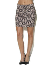 Arden b tribal print high waist mini skirt medium 10002